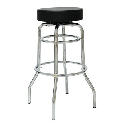 Patin 30.42 Swivel Bar Stool Color: Black