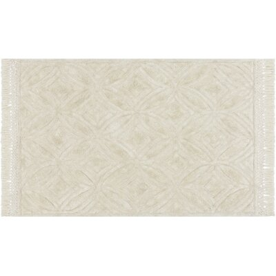 Werth Hand-Tufted Ivory Area Rug Rug Size: Rectangle 23 x 39