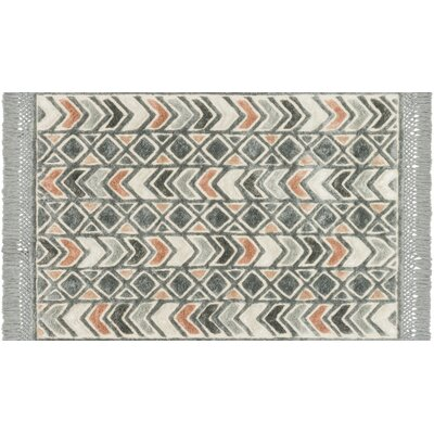 Werth Hand-Tufted Slate Area Rug Rug Size: Rectangle 79 x 99