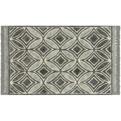 Werth Hand-Tufted Charcoal Area Rug Rug Size: Rectangle 93 x 13