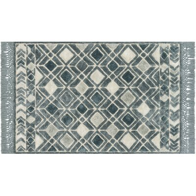 Werth Hand-Tufted Ocean Area Rug Rug Size: Rectangle 36 x 56