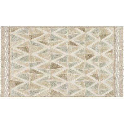 Werth Hand-Tufted Sand Area Rug Rug Size: Rectangle 36 x 56