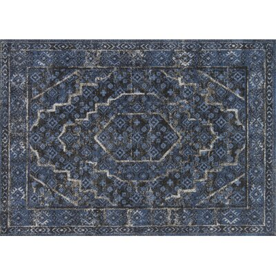 Aparicio Denim/Gray Area Rug Rug Size: Rectangle 25 x 77