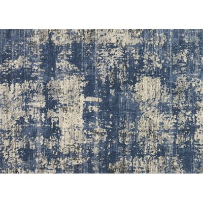 Aparicio Blue/Granite Area Rug Rug Size: Rectangle 77 x 106