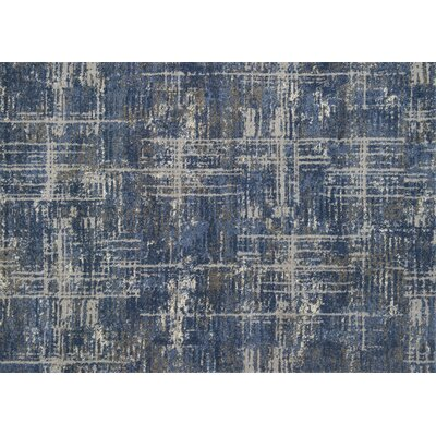 Aparicio Blue/Gray Area Rug Rug Size: Rectangle 77 x 106