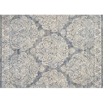Aparicio Slate/Ivory Area Rug Rug Size: Rectangle 25 x 77