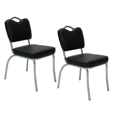 Patino Upholstered Dining Chair Color: Black