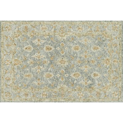 Fitzwater Hand-Hooked Wool Spa Area Rug Rug Size: Rectangle 36 x 56
