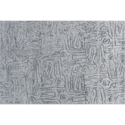 Rusch Hand-Tufted Light Blue Area Rug Rug Size: Rectangle 36 x 56