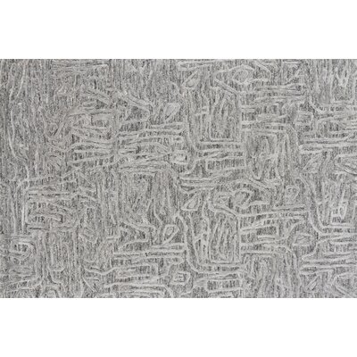Rusch Hand-Tufted Gray Area Rug Rug Size: Rectangle 5 x 76