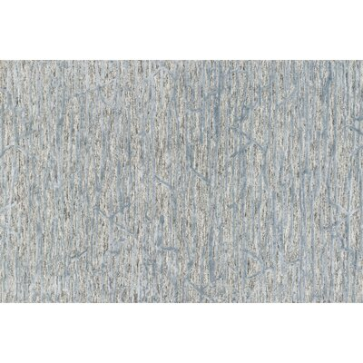 Rusch Hand-Tufted Gray/Blue Area Rug Rug Size: Rectangle 36 x 56