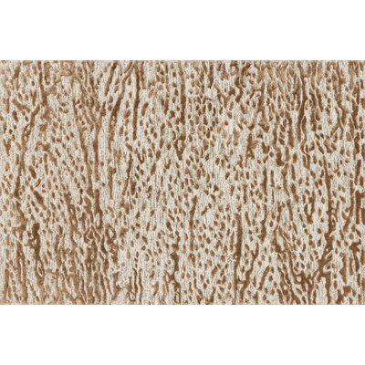 Rusch Hand-Tufted Oatmeal/Terracotta Area Rug Rug Size: Rectangle 36 x 56