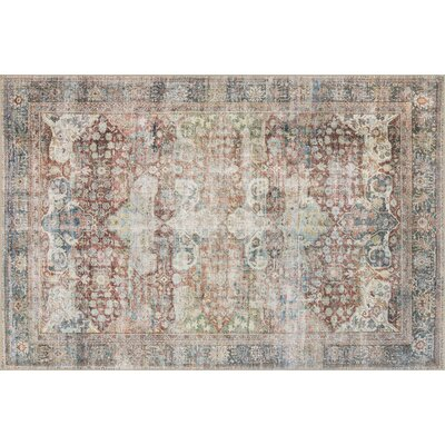 Onderdonk Brick Area Rug Rug Size: Rectangle 84 x 116
