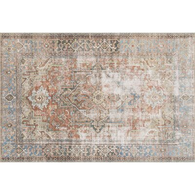 Onderdonk Terracotta/Sky Area Rug Rug Size: Rectangle 23 x 39