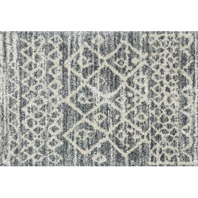 Palmquist Graphite/Beige Area Rug Rug Size: Rectangle 23 x 8