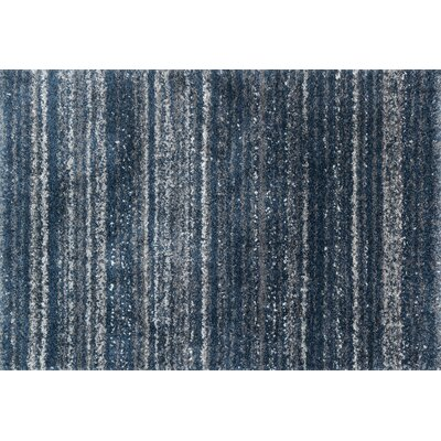 Gimenez Navy/Pewter Area Rug Rug Size: Rectangle 53 x 76