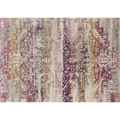 Palmore Sunset/Ivory Area Rug Rug Size: Rectangle 27 x 77
