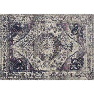 Palmore Ivory/Berry Area Rug Rug Size: Rectangle 53 x 77