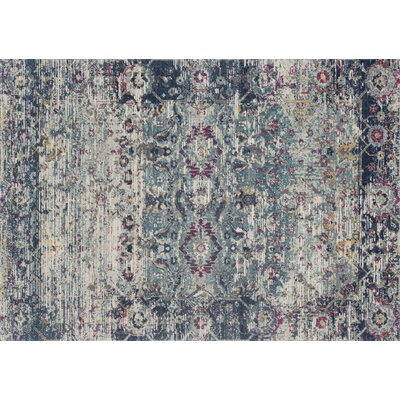 Palmore Teal/Indigo Area Rug Rug Size: Rectangle 53 x 77