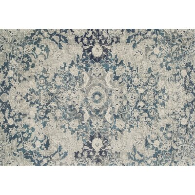 Palmore Ocean/Silver Area Rug Rug Size: Rectangle 53 x 77