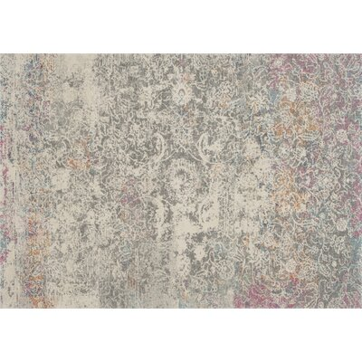Palmore Gray Area Rug Rug Size: Rectangle 53 x 77