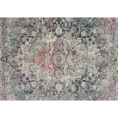 Palmore Green/Pink Area Rug Rug Size: Rectangle 27 x 77
