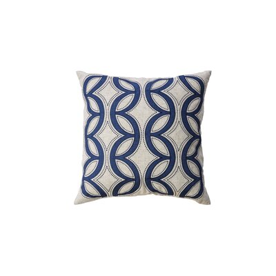 Dreen Indoor Cotton Throw Pillow Color: Indigo