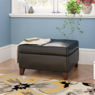 Auerbach Storage Ottoman Upholstery: Black