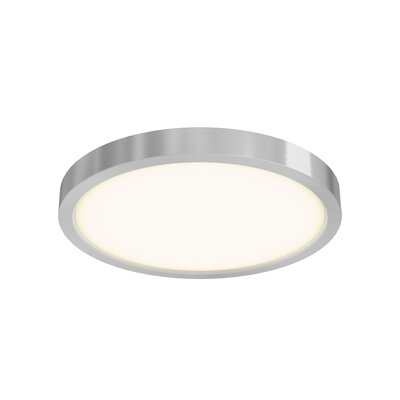 Mickle Round 1-Light LED Flush Mount Fixture Finish: Satin Nickel