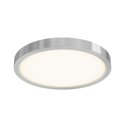 Mickle Round 1-Light LED Flush Mount Fixture Finish: Satin Nickel