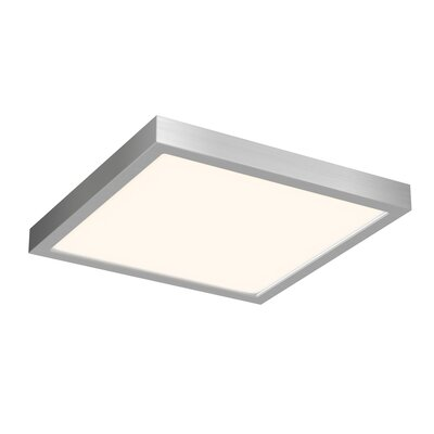 Mickle Square 1-Light LED Flush Mount Fixture Finish: Satin Nickel