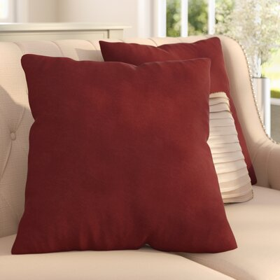 Gordon Throw Pillow Color: Suede Cardinal Red