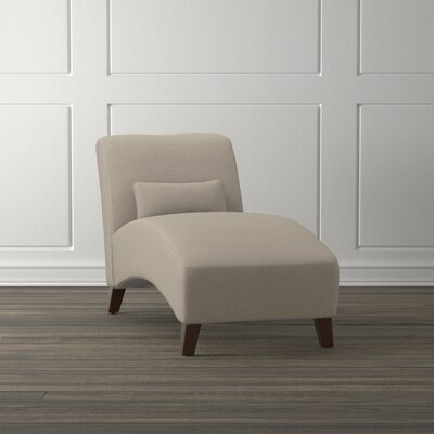 Pearl Street Armless Chaise Lounger Upholstery: Gray/Brown Taupe
