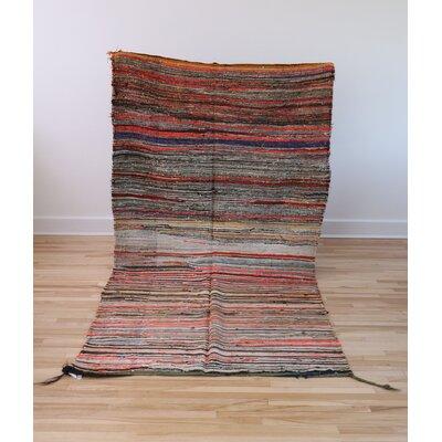 One-of-a-kind Atlas Handmade Kilim Wool Orange/Green Area Rug
