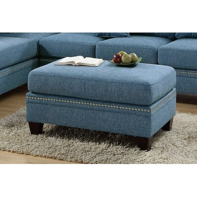 Marshal Cocktail Ottoman Upholstery: Blue