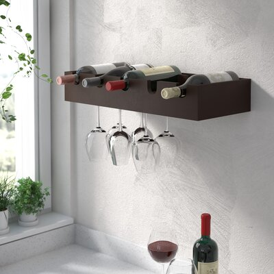 Cheever 5 Bottle Wall Mounted Wine Rack
