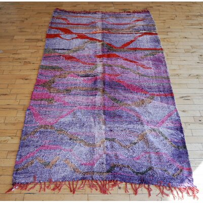One-of-a-kind Agna Moroccan Handmade Kilim Purple/Red Indoor/Outdoor Area Rug