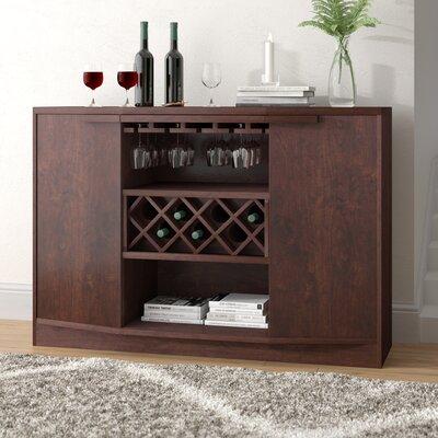 Xanthene Bar with Wine Storage Color: Vintage Walnut