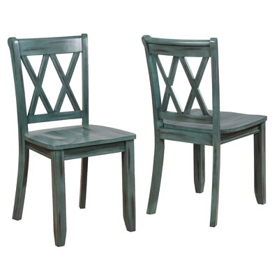 Fuqua Dining Chair Finish: Blue
