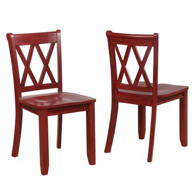 Fuqua Dining Chair Finish: Red