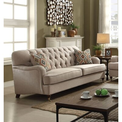 Diep Sofa with Pillow Upholstery: Beige