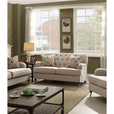 Diep Loveseat with Pillow Upholstery: Beige
