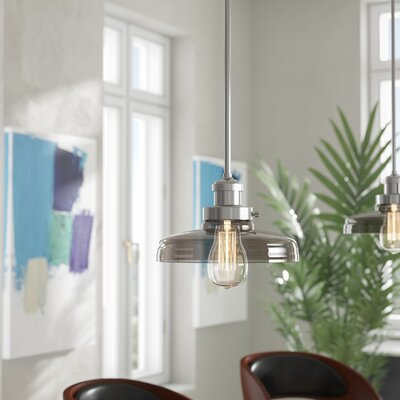 Kucharski Hi-Bay 1-Light Bell Shade Pendant Finish: Polished Nickel, Bulb: Not Included