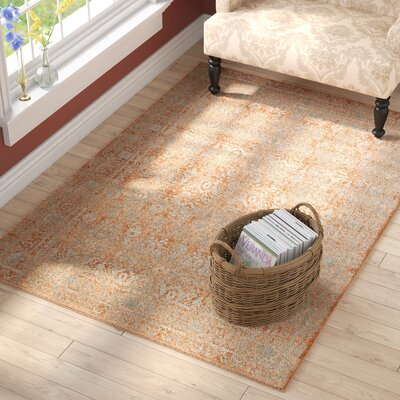 Adelbert Terracotta Area Rug� Rug Size: Rectangle 53 x 76