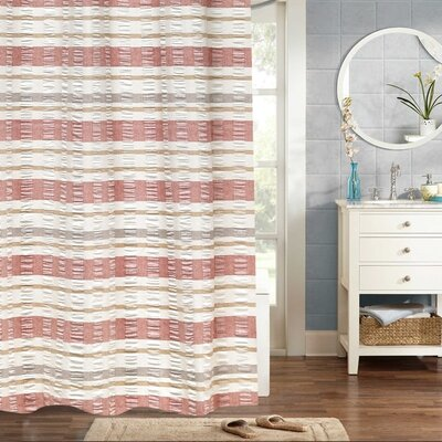 Polett Woven Jacquard 100% Cotton Shower Curtain