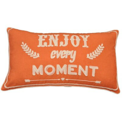 Mulak Enjoy Every Moment Script Throw Pillow