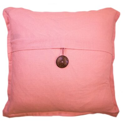 Bainbridge Button Cotton Throw Pillow Color: Blush Pink