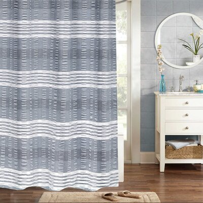 Fleckenstein Woven Jacquard 100% Cotton Shower Curtain