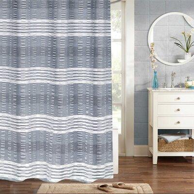 Fleckenstein Woven Jacquard 100% Cotton Shower Curtain