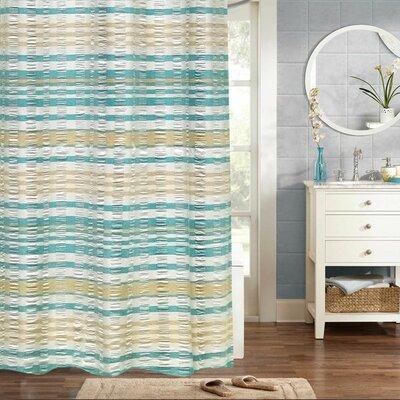 Fleener Woven Jacquard 100% Cotton Shower Curtain